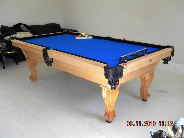 Stinger Pool Table With Fluffy