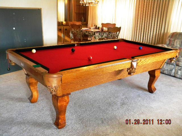 Stinger pool table with natural finish for Oak beauty pool table