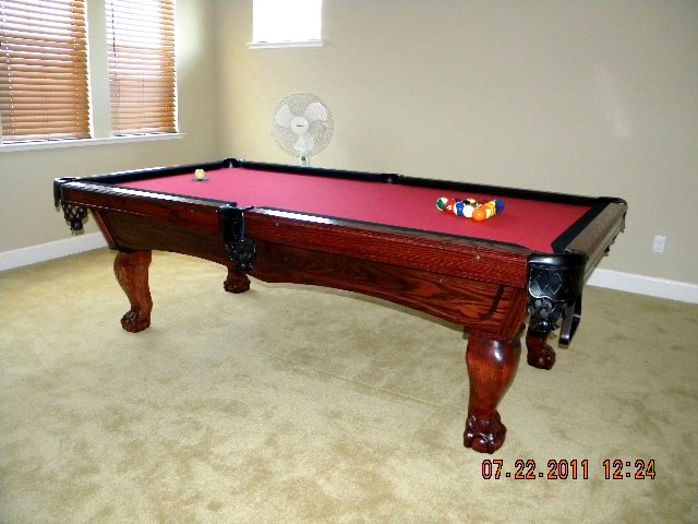 Delta Pool Table With Natural Finish - Pool table rail caps